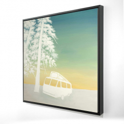 Framed 36 x 36 - 3D - Camping car