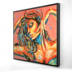 Framed 24 x 24 - 3D - Dance the colors