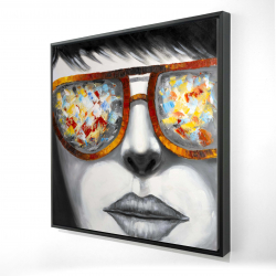 Framed 24 x 24 - 3D - Colorful sunglasses