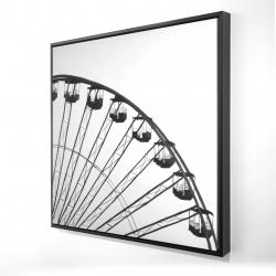 Framed 24 x 24 - 3D - Quarter of a ferris wheel