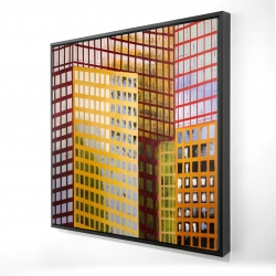 Framed 24 x 24 - 3D - Skyscrapers