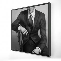 Framed 24 x 24 - 3D - Businessman