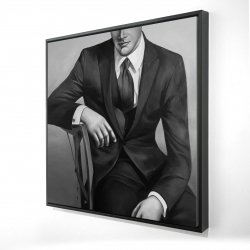 Framed 24 x 24 - 3D - Businessman