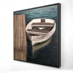 Framed 24 x 24 - 3D - Rowboats