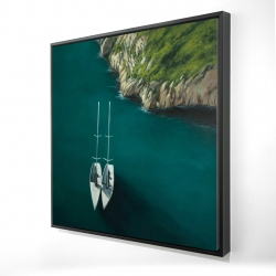 Framed 24 x 24 - 3D - Smooth sailing