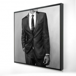 Framed 24 x 24 - 3D - Man in a great costume