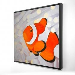 Framed 24 x 24 - 3D - Clownfish