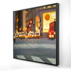 Framed 24 x 24 - 3D - Blurred view of new york