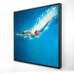 Framed 24 x 24 - 3D - Diving jump