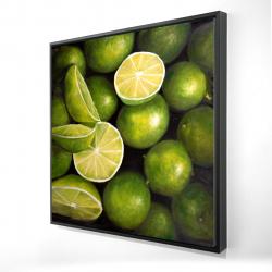 Framed 24 x 24 - 3D - Basket of limes