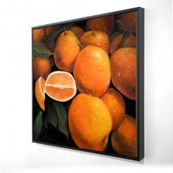 Framed 24 x 24 - 3D - Fresh oranges