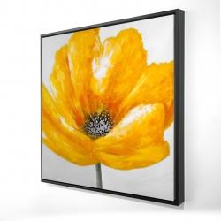 Framed 24 x 24 - 3D - Beautiful yellow flower