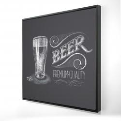 Framed 24 x 24 - 3D - Vintage beer signboard