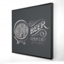 Framed 24 x 24 - 3D - Old beer sign