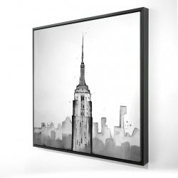 Framed 24 x 24 - 3D - Empire state building