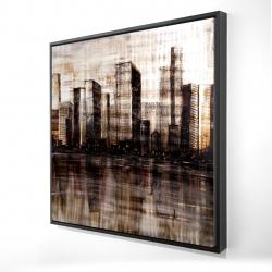Framed 24 x 24 - 3D - Sketch of the city