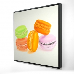 Framed 24 x 24 - 3D - Small bites of macaroons