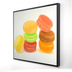 Framed 24 x 24 - 3D - Delicious macaroons