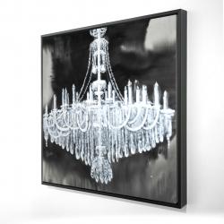 Framed 24 x 24 - 3D - Glam chandelier