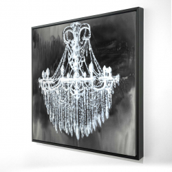 Framed 24 x 24 - 3D - Big glam chandelier