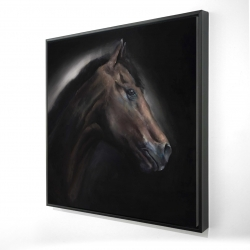 Framed 24 x 24 - 3D - Loneliness horse