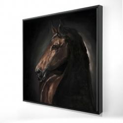 Framed 24 x 24 - 3D - Spirit the horse
