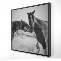 Framed 24 x 24 - 3D - Horses lover