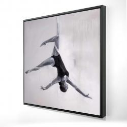 Framed 24 x 24 - 3D - Dancer on aerial silks
