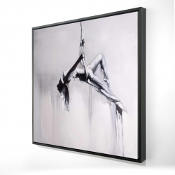 Framed 24 x 24 - 3D - Dancer on aerial contortion