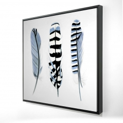 Framed 24 x 24 - 3D - Delicate feathers