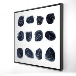 Framed 24 x 24 - 3D - Constellations
