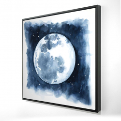 Framed 24 x 24 - 3D - Satellite view of the earth