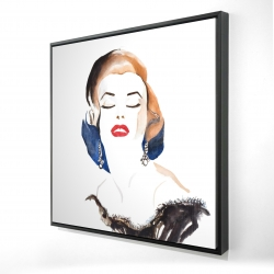 Framed 24 x 24 - 3D - Vintage chic maryline monroe