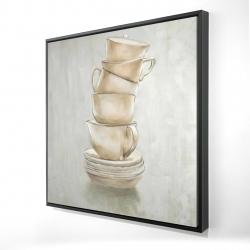 Framed 24 x 24 - 3D - Coffee mugs