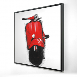 Framed 24 x 24 - 3D - Red italian scooter