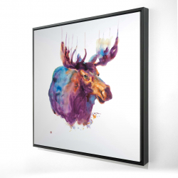 Framed 24 x 24 - 3D - Abstract moose