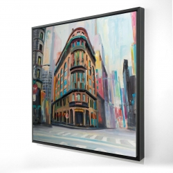 Framed 24 x 24 - 3D - Building architecture in new-york