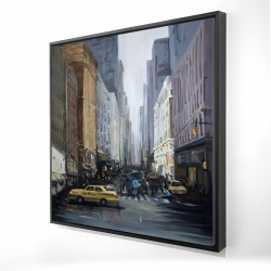 Framed 24 x 24 - 3D - In the city