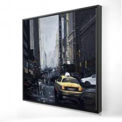 Framed 24 x 24 - 3D - New york in the dark