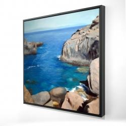 Framed 24 x 24 - 3D - California coast