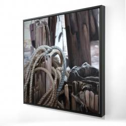 Framed 24 x 24 - 3D - Driftwood