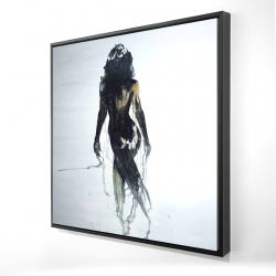Framed 24 x 24 - 3D - Abstract back view of a woman silhouette