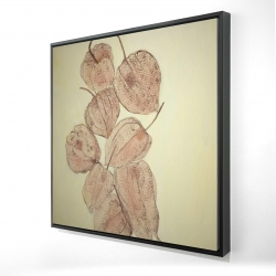 Framed 24 x 24 - 3D - Closed ground cherries