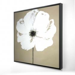 Framed 24 x 24 - 3D - Abstract color splash flower