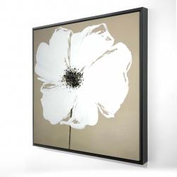 Framed 24 x 24 - 3D - Abstract color splash petals flower