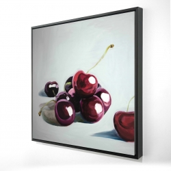 Framed 24 x 24 - 3D - Glossy dark cherries