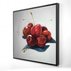 Framed 24 x 24 - 3D - Pile of cherries