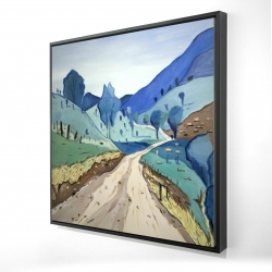 Framed 24 x 24 - 3D - Tuscany trail