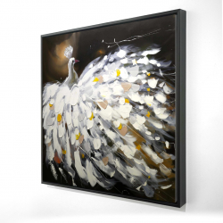 Framed 24 x 24 - 3D - Abstract peacock