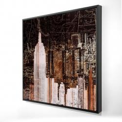 Framed 24 x 24 - 3D - The empire city of newyork